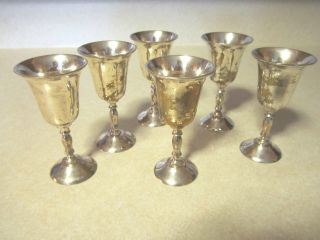 Silver Plated Sherry Goblets Made In India photo