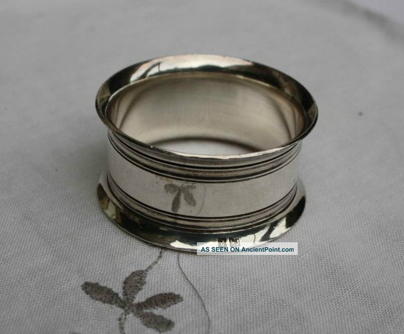 Vintage Frenchsilver Napkin Ring Napkin Rings & Clips photo