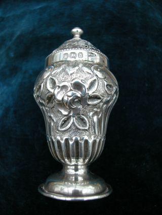 Antique Victorian Silver Pepperette Hallmarked Walker & Hall Sheffield 1896 photo