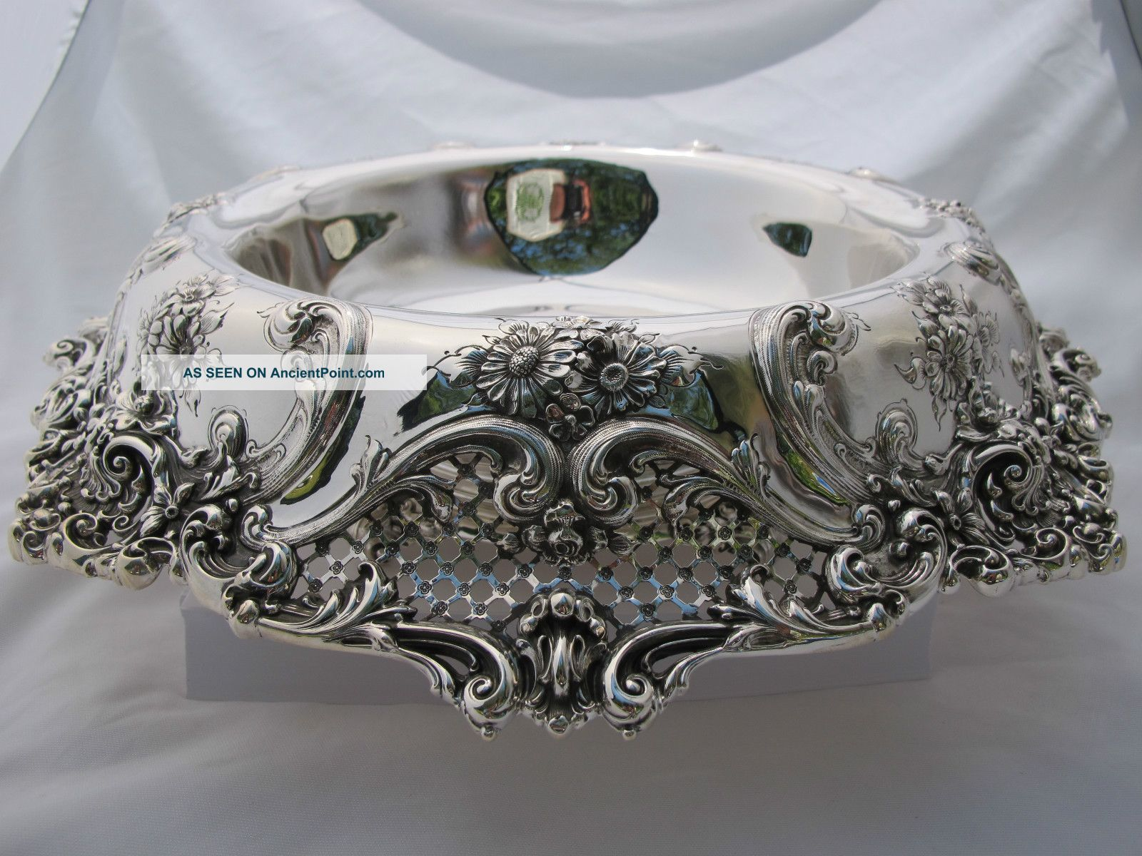 Large Sterling Centerpiece 50 Oz Troy Ornate Perfect Bowls photo
