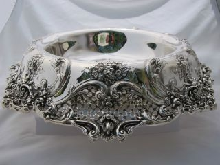 Large Sterling Centerpiece 50 Oz Troy Ornate Perfect photo