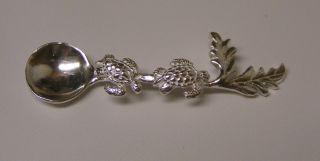 Salt Spoon (w2 Sea Turtle) Sterling Silver photo