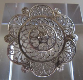 ‹ (•¿•) › 1920/30: A Vintage German Wmf Ikora Silver Brooch, photo