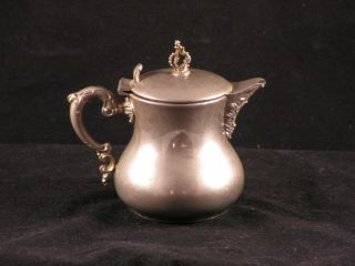 1900 Rochester Stamping Co.  New York Silver Pitcher 69 Ornate Finial Handle photo
