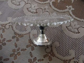 40 ' S Duchin Sterling,  Weighted Pedestal Candy Dish - Glass Dish Removable L@@k photo