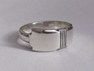 Sterling Silver Spoon Ring - Deakin & Francis (british) - Size 7 1/2 To 9 - 1943 photo