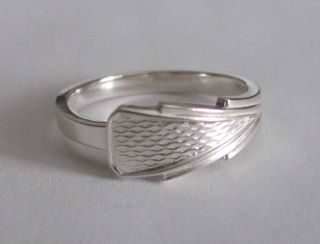 Sterling Silver Spoon Ring - Deakin & Francis / Art Deco - Sz 6 (5 To 6) - 1934 photo
