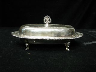 Silverplated Butter Dish 1 5/8