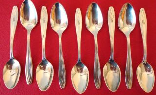 9 Silhoette Demi - Tase Spoons By Rogers Bros. photo