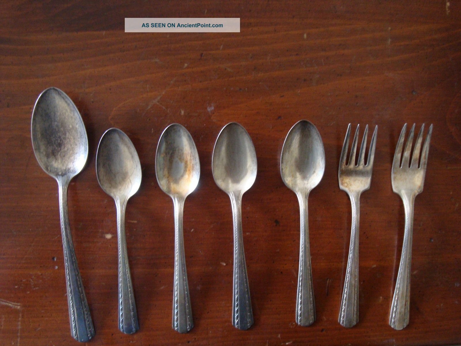 Vintage Set Of American Silver Co.  Spoons And Forks - Harvest Pattern Other photo