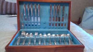 Nobility Flatware Set Reverie 100 Pcs Silverplate Service For 10 Silverware photo