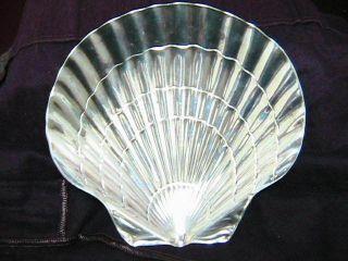 Tiffany & Co.  Sterling Silver Seashell Bon Bon Tray - 192 Grams photo