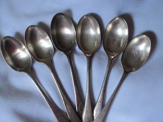 Vintage Set Of Six Walker & Hall Ep Tea/coffee Spoons photo