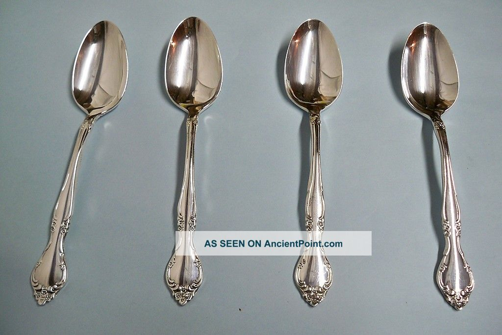 4 Affection Teaspoons - Ornate 1960 Community - Floral - Clean & Table Ready Other photo