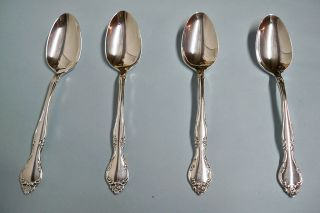 4 Affection Teaspoons - Ornate 1960 Community - Floral - Clean & Table Ready photo