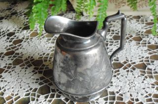 Antique Rogers & Co.  Meriden Silver Plate Pitcher Syrup Pitcher photo