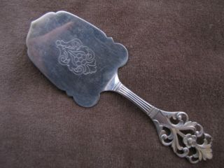 Vintage Sterling Silver Th Marthinsen,  Norway 239 Cheese Or Pastry Server photo