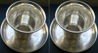 Antique Israel Talmud Blessing For Good Year Expiation Sterling Silver Cup Tray photo