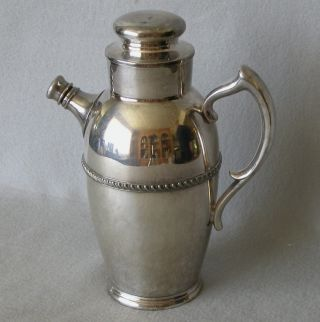 Martini Shaker Pitcher Silverplate Poole Silver Co. photo