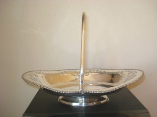 Silver Plated Swing Handle Fruit/bread Basket photo