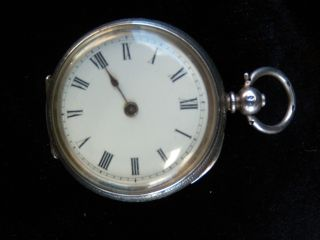 Antique Solid Silver Pocket Watch 935 photo