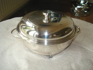 Lovely Silver Plated Muffin Dish photo
