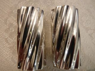 Towle Sterling Salt And Pepper Shakers Swirl Pattern 10801 Solid Sterling photo