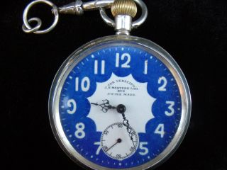 Solid Silver Vintage Pocket Watch The Veracity. photo