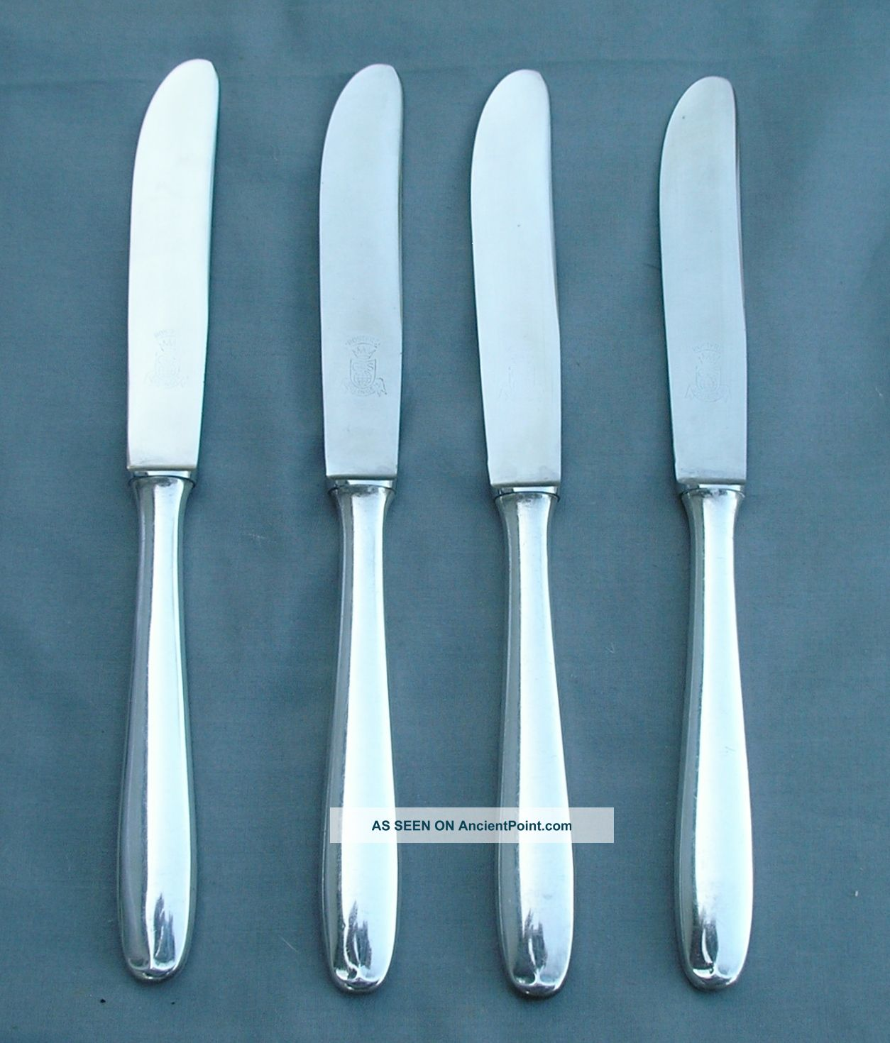 4 Rostfrei Ges Solingen Germany 800 Silver Dinner Knives Exc Cond No Mono Germany photo