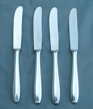 4 Rostfrei Ges Solingen Germany 800 Silver Dinner Knives Exc Cond No Mono photo