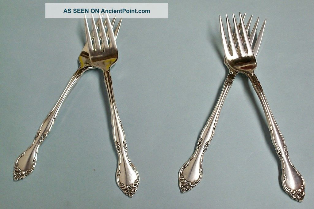 4 Affection Salad Forks - Ornate 1960 Community - Floral - Clean & Table Ready Other photo