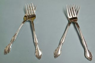 4 Affection Salad Forks - Ornate 1960 Community - Floral - Clean & Table Ready photo