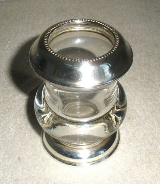 Frank Whiting Sterling & Glass Cigarette Hold