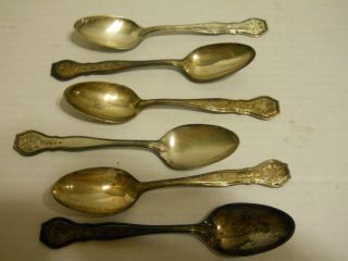6 Vintage Sterling Silver Spoons Marked Rm&s