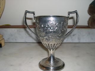 Antique Irish Sterling Silver Chalice,  Hand Chased,  Dublin,  17th Century photo