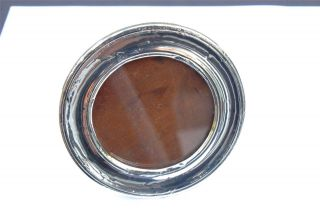 Plain Round Silver Photo Frame - Birmingham 1918 - Robert Pringle & Sons photo