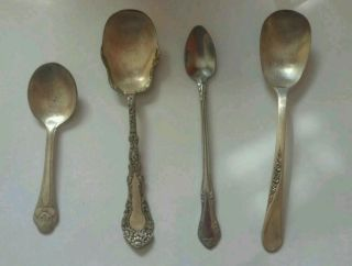 4 Vintage Spoons.  1gerber,  2 Wm Roger And 1 Other photo