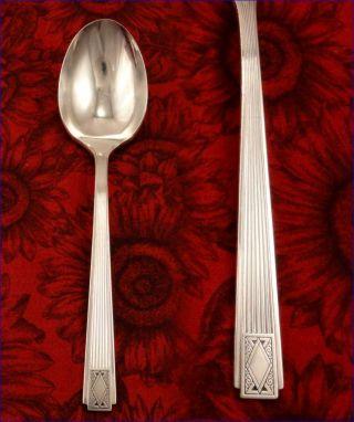 Sugar Spoon Community Plate Noblesse 1930 Vintage Silverplate Art Deco Oneida photo