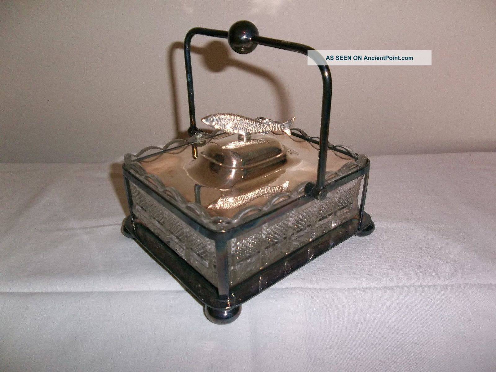 Sardine Dish Box Made By Barker Brothers Silver Plated Boxes photo