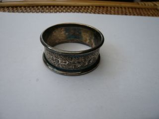 Vintage Victorian Sterling Silver Good Quality Napkin Ring Hm 1899 Engraved Ida photo