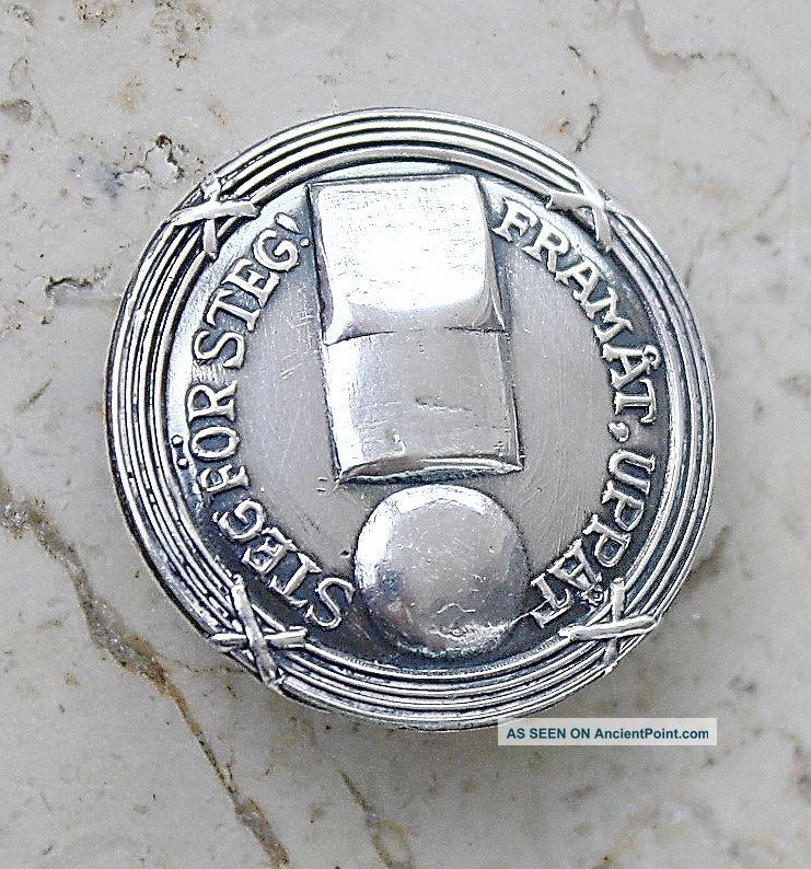 Vintage Sweden Silver Sterling Badge