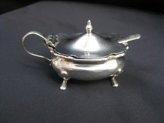 English Sterling Silver Mustard Pot photo