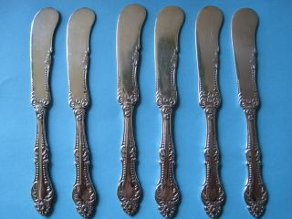 Wm A Rogers Carlton By Oneida 6 Individual Butter Knives photo