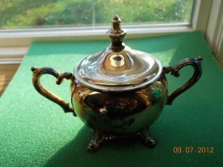 Wm.  Rogers Silverplate 3 Pc.  Coffee/tea Set W/ Creamer & Sugar Bowl photo