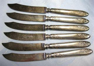 Antique Meriden Cutlery Silverplate Fruit Knives Set Of 6 photo