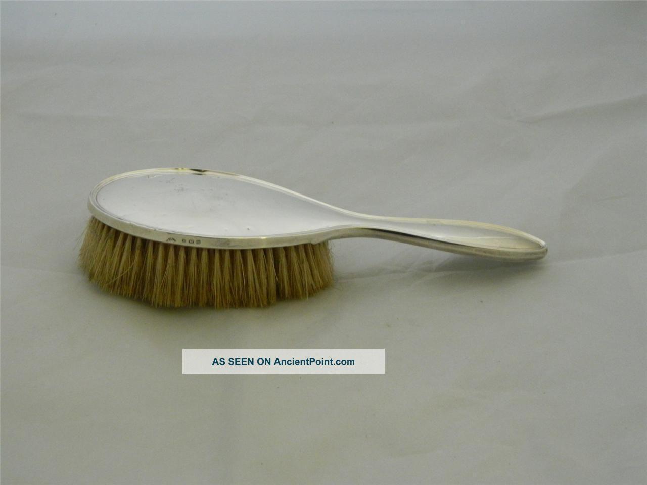 Vintage Solid Silver Hand Brush Hallmarked 1922 By Bros Ltd Mirrors photo