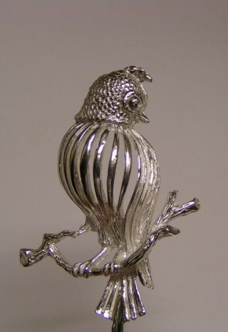 Salt Spoon (bird) Sterling Silver photo