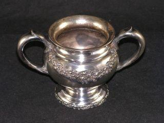1875 Wallace Bros 1920 ' S Silver Pedestal Open Sugar Bowl Quadruple Plate 88 photo