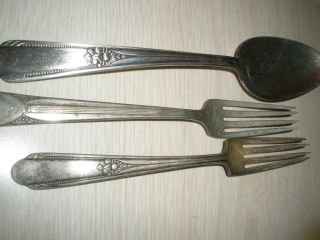 3 Pieces Of Rogers Silverware photo