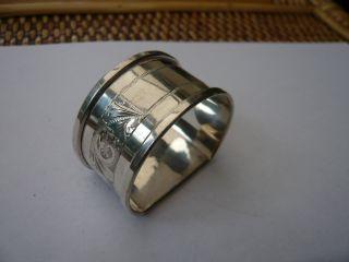 Vintage Sterling Silver Good Quality Napkin Ring Hm 1963 50th Birthday Present photo